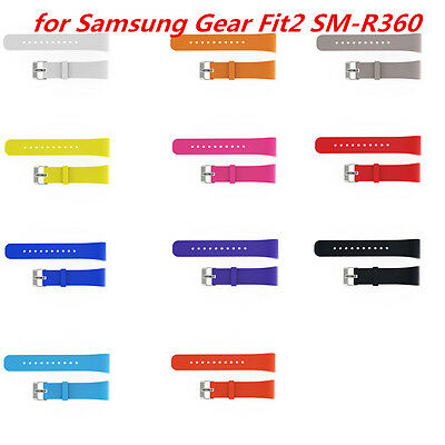 Replacement Silicone Wrist Bracelet Band Strap For Samsung Gear Fit2 SM-R360