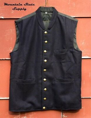 """Repro U.S. Civil War Union North Officer's Navy Wool Vest Tag=32 Chest=39"""""""