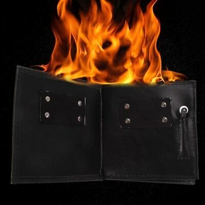 Magic Pros-See Demo Fire Flaming Wallet Street Show Bar Party Magic Trick Tools