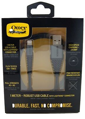 OtterBox 1 m Rugged Premium Quick Charge USB to Lightning Cable 2.4 A (MFi)