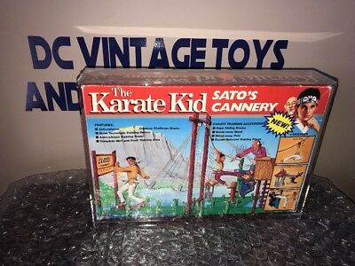 Vintage 1986 Karate Kid Toy Tri-Action Remco  Sato's Cannery Playset