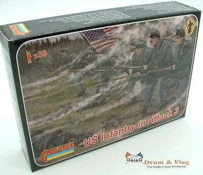 Strelets Set 179 - US Infantry in Attack - Union - American Civil War 1/72 scale