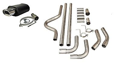 """Vauxhall Full Cat Back System Sports Universal Exhaust Back Box 002+ 2"""" Pipe Kit"""
