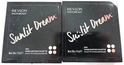 (2) Revlon Photoready Sunlit Dream Highlighting Palette New & Unused 002