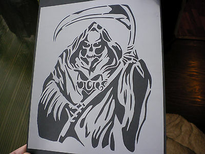 high detail airbrush stencil grim reaper FREE UK POSTAGE