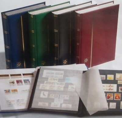 10 x Lighthouse Basic Stockbook 16 Black Pages Stamp Album (Red Cover)