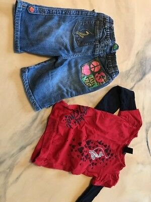 Girls Baby Phat Shorts Shirt Set Size Toddler 5  6