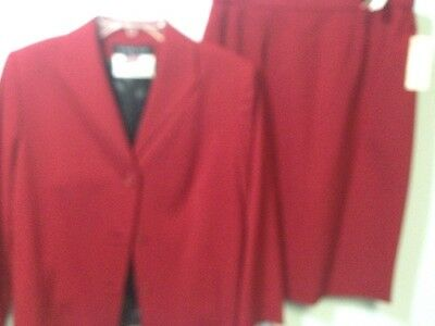 Harlan Red Skirt Suit Jacket New Tags $135 Size 10 Meyer Jonasson Altoona Pa