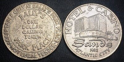 Lot of 2 Gaming Tokens - Ballys Park Place & Sands Hotel and Casino