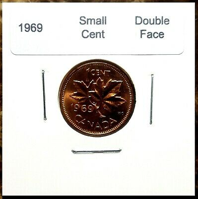 Canada 1969 Small Cent *Double Queen's Face* Choice to Gem BU UNC Red!!