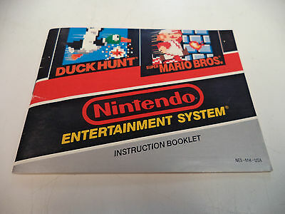 Super Mario Bros./Duck Hunt - Nintendo NES Game -Instruction Manual Booklet Only