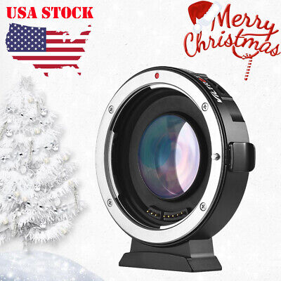 VILTROX EF-M2 AUTO FOCUS LENS MOUNT ADAPTER 0.71X FOR CANON EOS to MFT M43+Mic