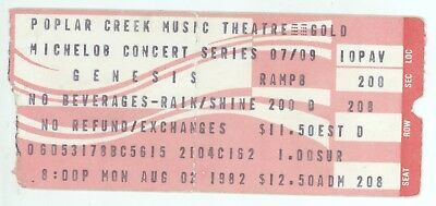 Rare GENESIS 8/2/82 Hoffman Estates IL Poplar Creek Concert Ticket Stub! Chicago