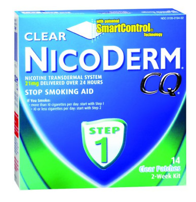 McK Nicoderm CQ 21 mg Strength Transdermal Patch 14 per Box