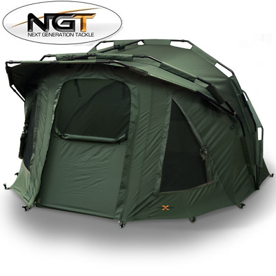 Ngt Carp Fishing 2 Man Fortress Rib Bivvy With Hood Tent Shelter Waterproof