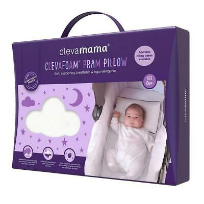 Clevamama ClevaFoam Supporting Baby Pram Pillow - Suitable From Birth