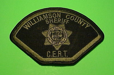 Williamson County  Tennessee  C.e.r.t.  Subdued Grn/blk  Sheriff /  Police Patch