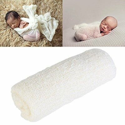 Newborn Stretch Wrap Baby Photography Photo Prop Baby Long Ripple Wrap off-white