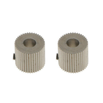 2Pcs Stainless Extruder Drive Gear 5mm Shaft for 3D Printer 1.75mm Filament
