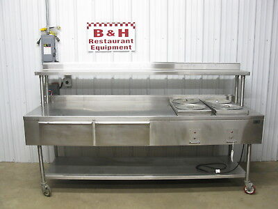 Baxter 8' Stainless Donut Icer Glazing Table 4 Bowl Heated Icing Warmer 96""