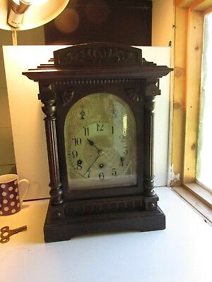 bracket clock c1900          good working order   around 7 kilo