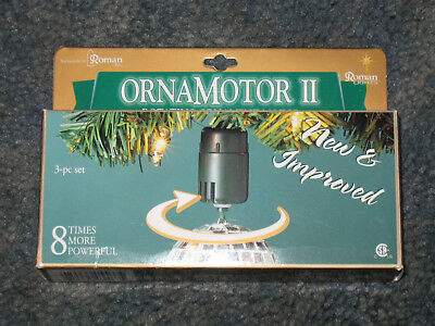 Ornamotor II Rotating Ornament Motor 3 Pc Set - New