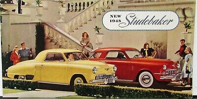 1948 Studebaker Champion Commander  Land Cruiser Sale Brochure Folder Original