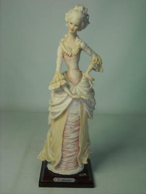 Naples Guiseppe Armani LADY HOLDING FEATHER FAN Figurine Made in Italy