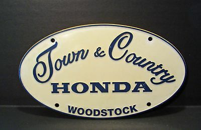 Town And Country Honda >> Vintage Town Country Honda Woodstock Oval Plastic