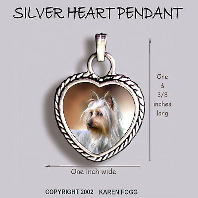 Yorkie silky yorkshire terrier ornate heart pendant tibetan silver yorkie silky yorkshire terrier ornate heart pendant tibetan silver aloadofball Image collections
