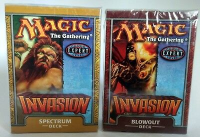 Magic the Gathering MTG * Invasion  Theme Decks x2 * Brand New and Sealed