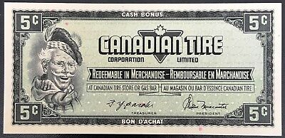Vintage 1974 Canadian Tire 5 Cents Note ***Crisp Uncirculated*** CTC-S4-B-BN
