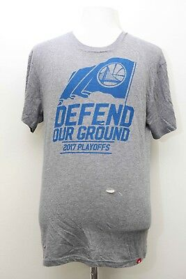 823c43fd9e9 Sportiqe Apparel Large Golden State Warriors Defend Our Ground 2017  Playoffs Tee