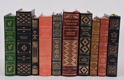 10 Volumes Franklin Library Books Leather Bound Gone With the Wind