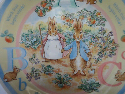 PETER RABBIT ABC Wedgwood Small Plate Made in England 6 3/4 inch Free Shipping