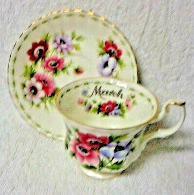 Royal Albert Flower Of The Month March 1970 Cup And Saucer