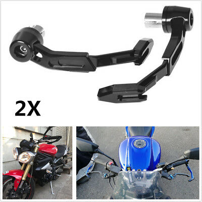 """2X 7/8"""" 22mm CNC Motorcycle Handlebar Protector Brake Clutch Protect Lever Guard"""