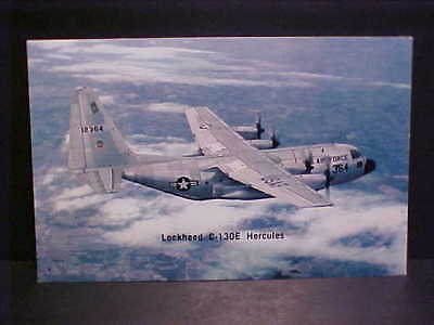 Old Color Litho Printed Postcard Usaf #123364 Lockheed C-130E Hercules Airplane