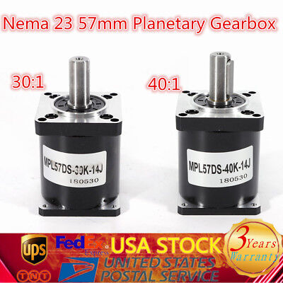 57mm NEMA 23 Speed Reducer 30:1 40:1 Planetary Gearbox Ratio Reducer Gearbox