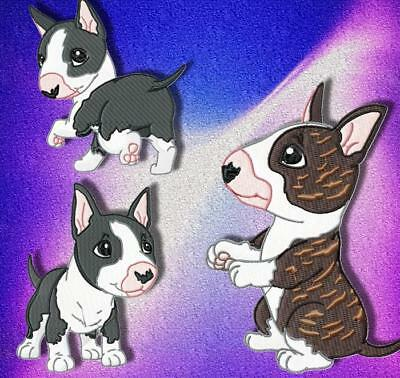 Cute Baby English Bull Terrier 10 Machine Embroidery Designs Cd 3 Sizes Included