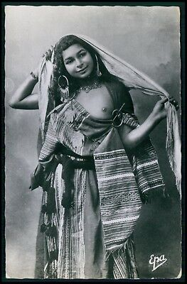 North Africa ethnic arab nude woman original c1930-1950s photo postcard qq