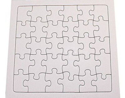 2 x 30 Piece Blank Jigsaw Puzzle ~ 17cm x 16cm ~ Great to Decorate ~ NEW