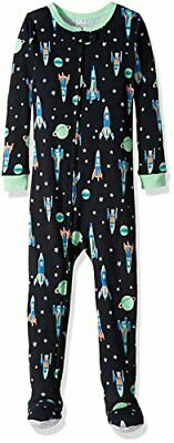 Carter's Boys Glow-In-The-Dark Space Ship and Stars Cotton Footed Pajama Sleeper