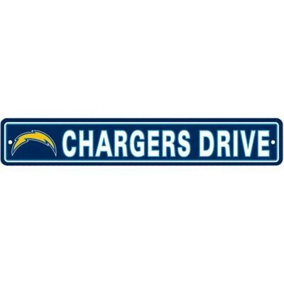 "Los Angeles Chargers 4""x24"" Street Sign Wall Decor Man Cave Free Shipping"