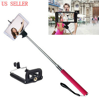 Handheld Monopod Extendable Telescopic Pole Camera Cell phone Drift Contour Self