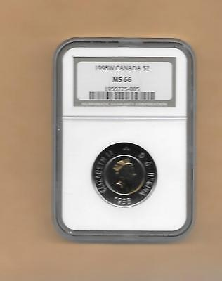 1997 Canada $2   Ngc Ms-66