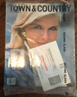 Town & Country October 1989 back issue magazine vintage NEW sealed Breton beauty