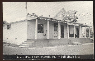 1940-50S Sepia Pc, Kyle's Store, Cafe, Cotages & Post Office, Isabella, Mo.