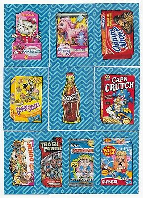 2017 Topps Wacky Packages 50th Anniversary Best of the 00's Set  10 Stickers