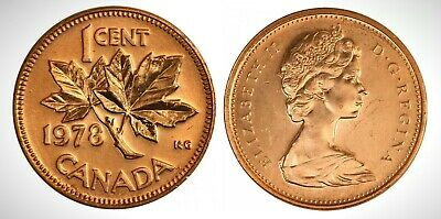 Canada 1978 Small Cent UNC Gem BU!!